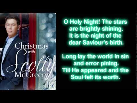 Scotty McCreery  O Holy Night Lyrics