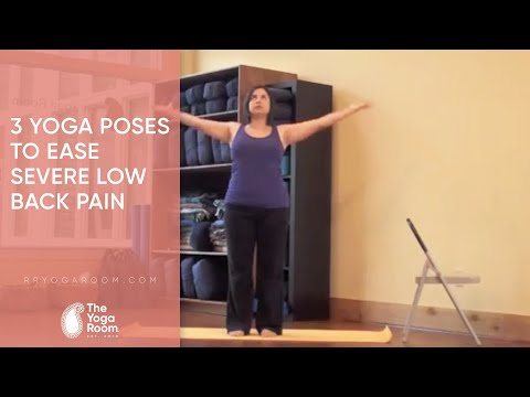 3 yoga poses to ease severe low back pain  youtube