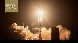 China's carrier rocket Long March-5 takes off in maiden flight
