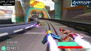 Wipeout Pulse - PSP Gameplay 1080p (PPSSPP)