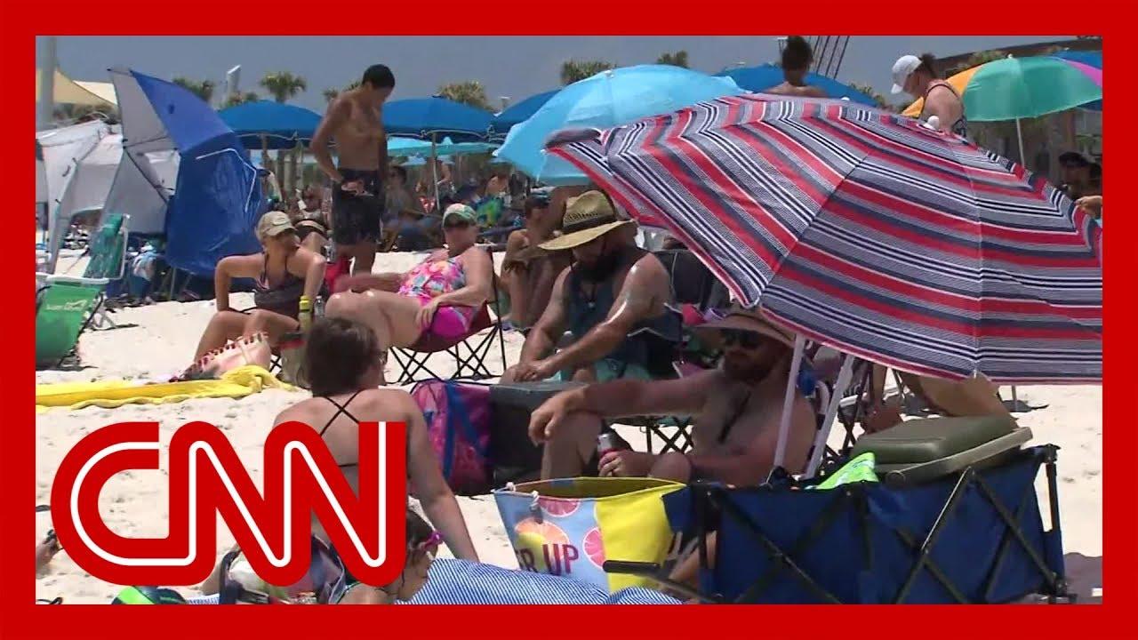 CNN reporter debunks Alabama beachgoers' Covid 19 theories