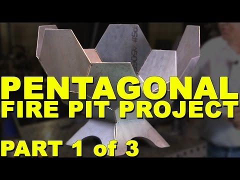 Fire Pit Welding Project: Pentagon Fire Ball - Part 1   MIG Monday