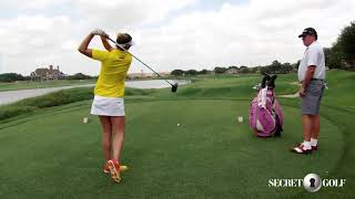 Brittany Lang: Tee Shot With Water Left