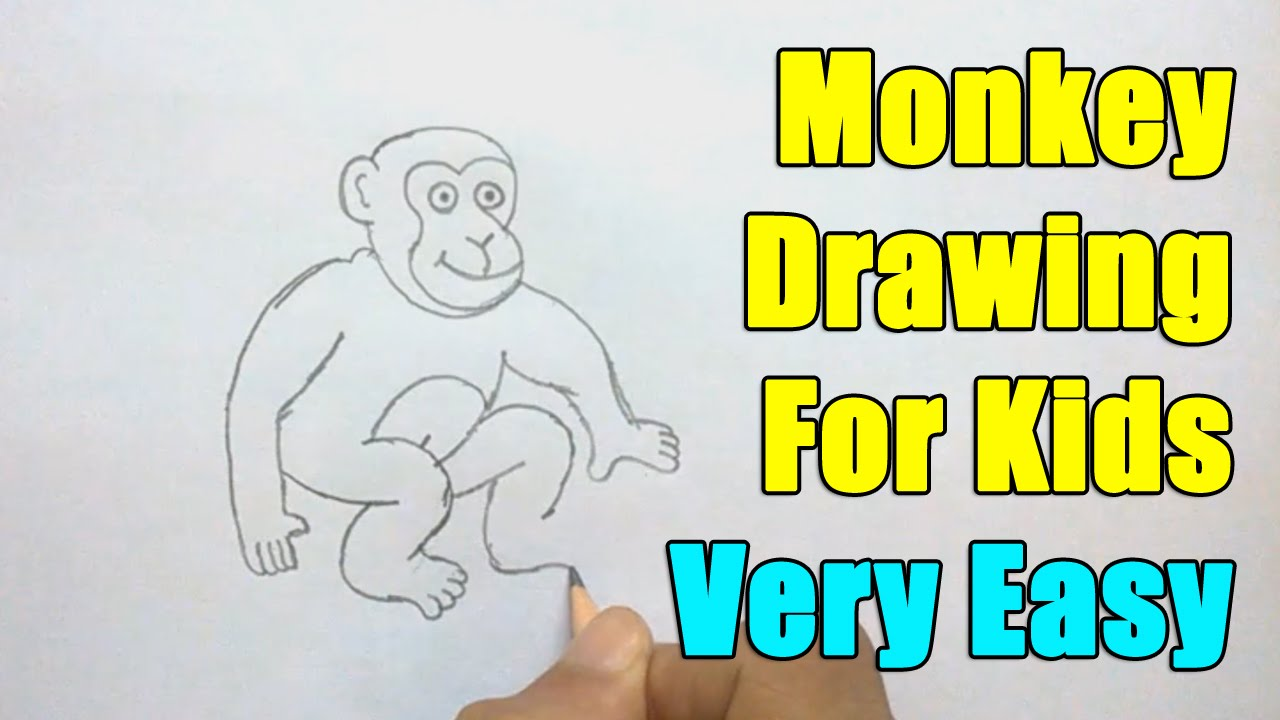 How to Draw a Monkey - YouTube