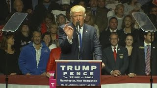 In NH, Trump Reads Letter Of Support From Bill Belichick