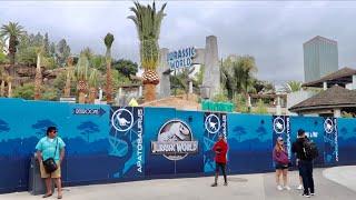 Universal Studios Hollywood Construction Update - Jurassic World Progress / Early HHN Teasers & MORE