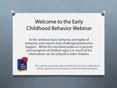 Early Childhood Behavior Webinar