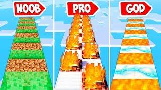 Minecraft NOOB vs PRO vs HACKER vs GOD : DEATHRUN ADVENTURE | Challenge!