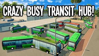 Using Commuter Tracking & Desiġning a Beautiful Transit Hub in Cities Skylines!