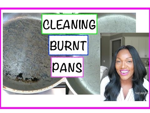 how to clean burnt pans uk