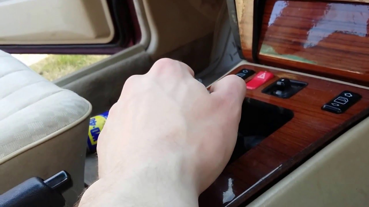 Mercedes 190e how to remove gear knob manual version for Mercedes benz shift knob replacement