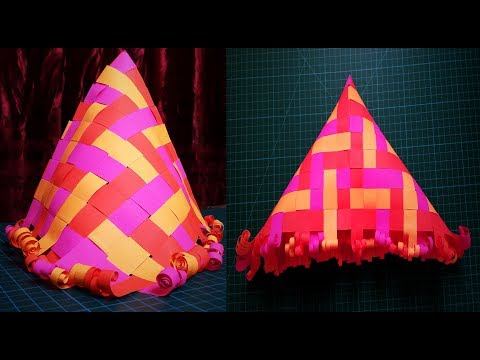 How to Make a Paper Hat | DIY Paper Hat with Paper Strips