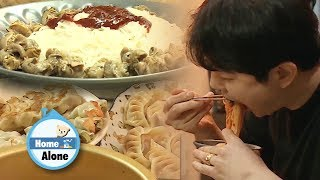 Kyun Sang's Noodle with See Snails Mukbang [Home Alone Ep 284]