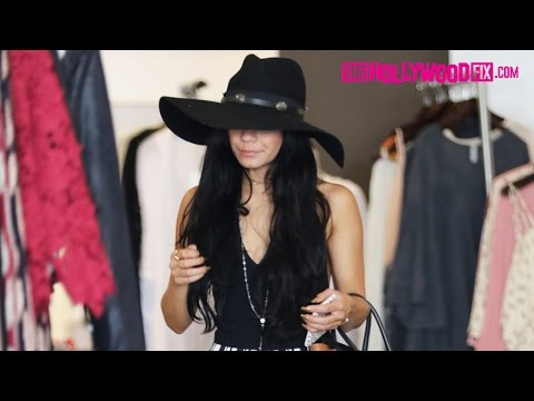 Vanessa Hudgens Goes Shopping At Planet Blue In Beverly Hills 9.23.15 - TheHollywoodFix.com