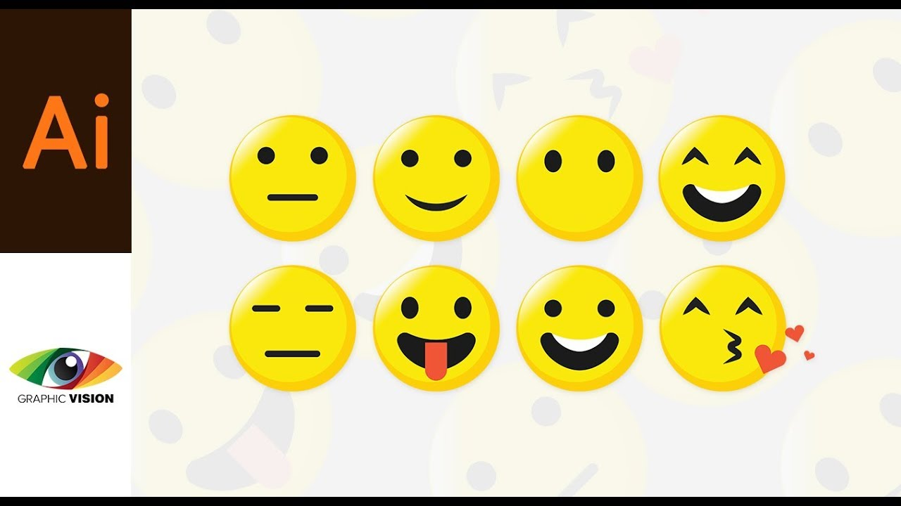 how to make these cool emoji design in illustrator