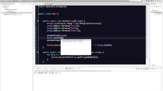 Uso básico de ArrayList en Java