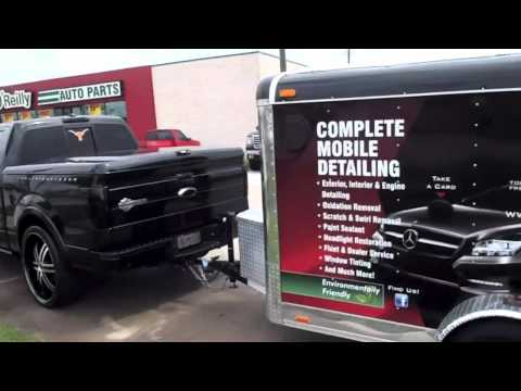 Unique Auto Spa of Texas custom trailer and truck set up