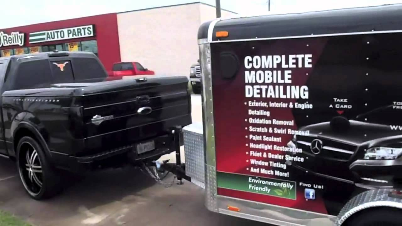 AUTO MOBILE DETAILING Unique Auto Spa of Texas custom trailer and truck set up - YouTube