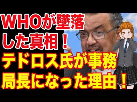 今頃WHOが中国に専門家チームを派遣!!ここまでWHOが落ちぶれた理由とテドロス氏が事務局長になった理由!!