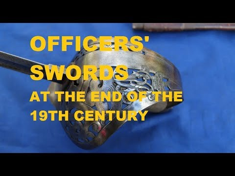 European military officers' swords of the 1880s and 1890s
