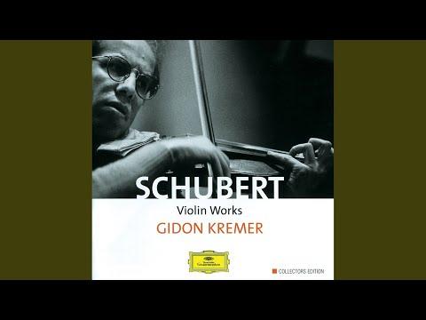 """Schubert: Sonata For Violin And Piano In A, D.574 """"Duo"""" - 2. Scherzo (Presto)"""