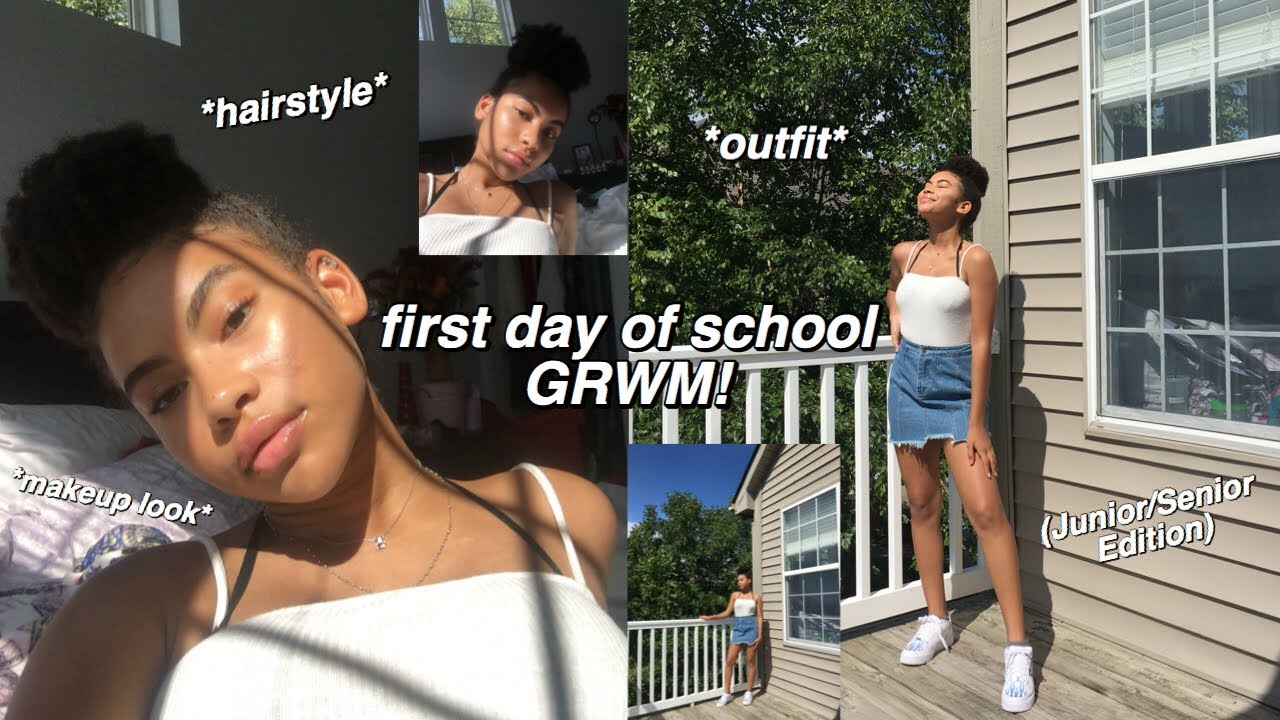 First Day Of High School Grwm 2019 Makeup Hair Outfit