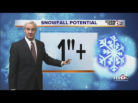 INDIANAPOLIS WEATHER ALERT: 1 inch of snow possible overnight