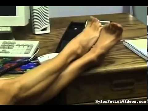 Office Lady stocking toes