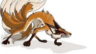 How to draw a Kitsune, Nine-tailed fox