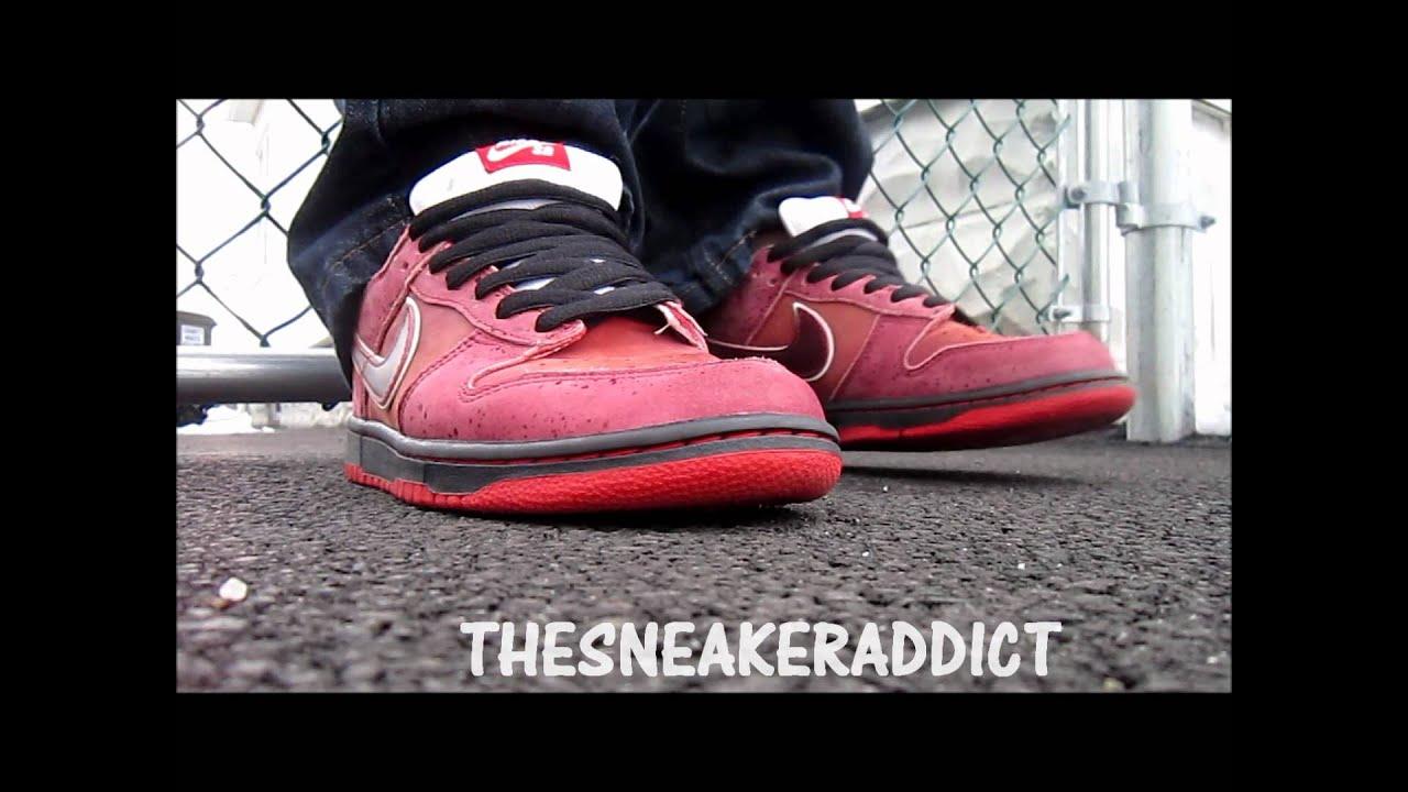 b7656e3322f653 Nike SB Red Lobster Dunk Low Sneaker Review + On Foot W   DjDelz ...