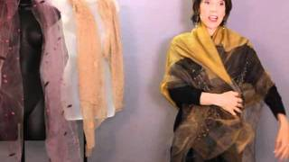 How To Wear Fantasy Shawls - Demonstration by Marilyn Hellman Thumbnail