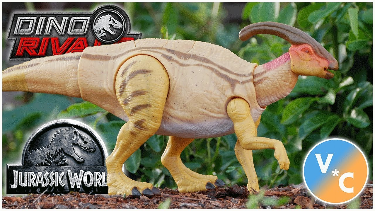 JURASSIC WORLD Parasaurolophus DUAL ATTACCO DINO rivali