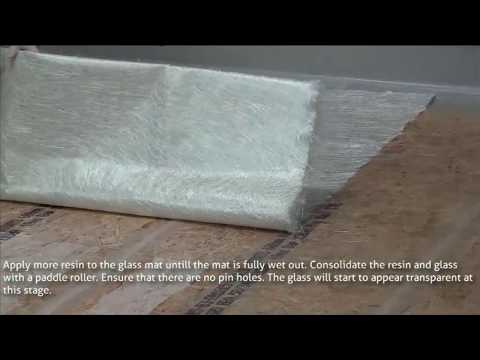 Laminating a GRP / Fibreglass Roof