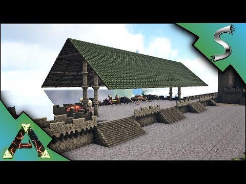DINO STORAGE AREA! BALLISTA CASTLE DEFENSES! DAEODON BREEDIN