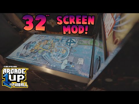 """Arcade1up Pinball Mod 32"""" Playfield Screen from COOLTOY"""