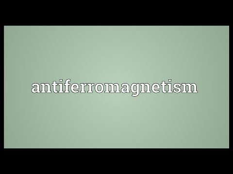 Header of antiferromagnetism