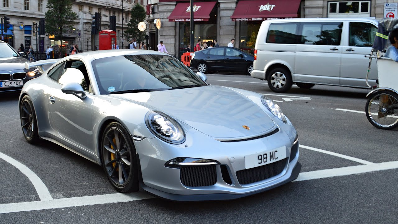 2014 Porsche 911 GT3 - Acceleration with GREAT SOUND in London - YouTube