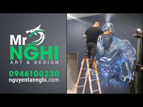 Mural Art Painting   Victory Gym   Mr Nghi Art & Design
