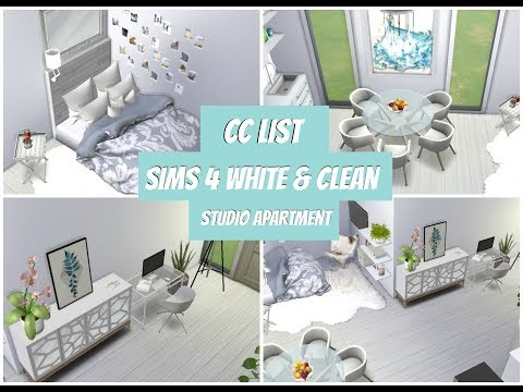 Sims 4 White and Clean house