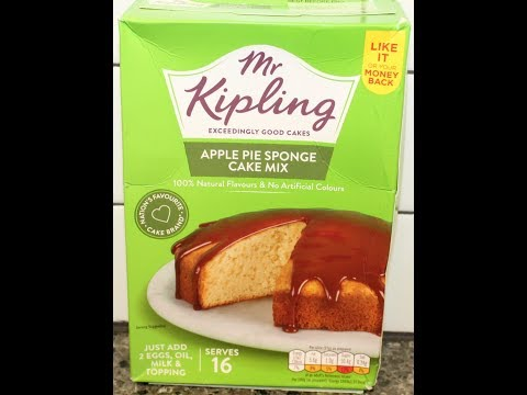 Mr. Kipling Apple Pie Sponge Cake Mix – Preparation & Review