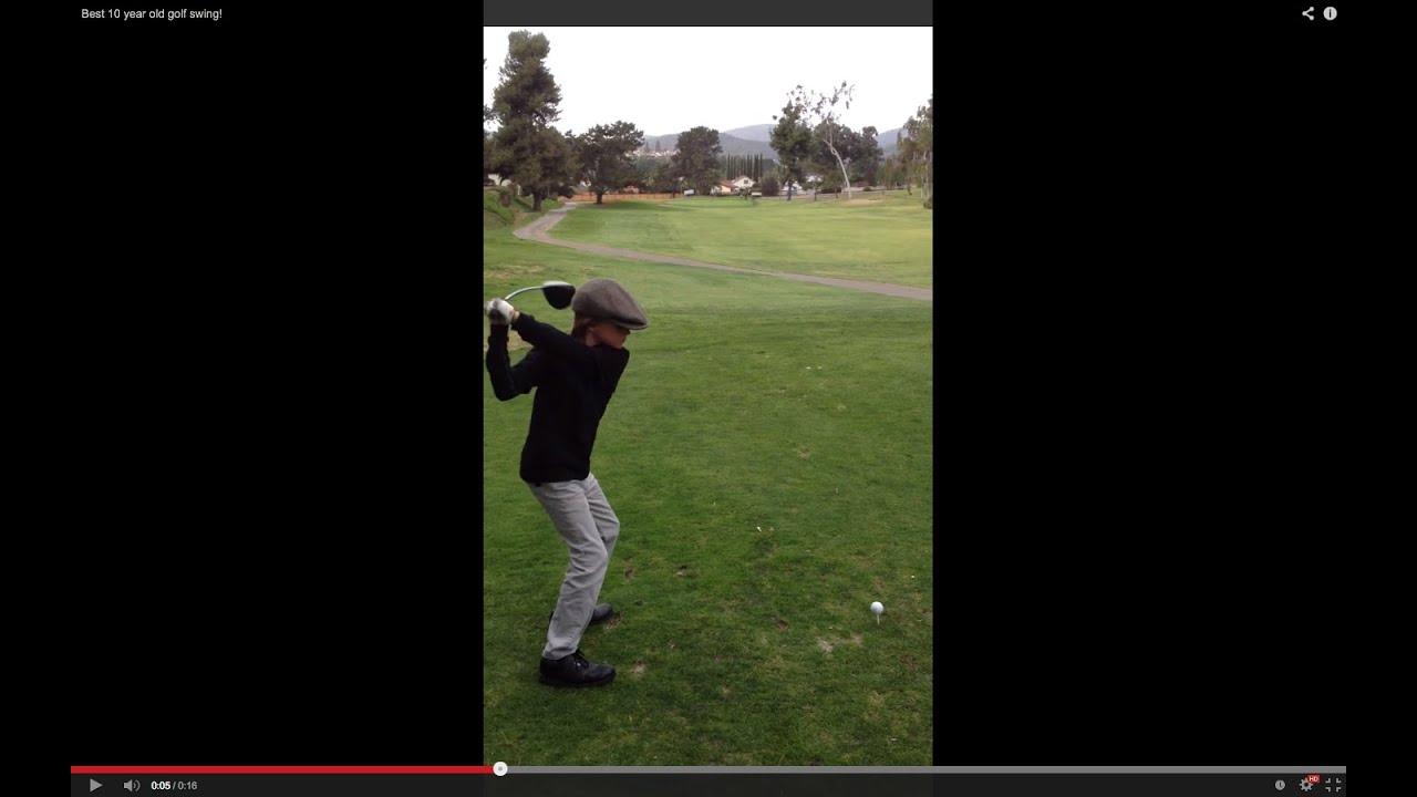 9 YO 10YO 11 Best 10 year old golf swing!