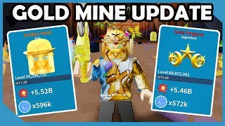 Neues Update! Gold Mine Area & Golden Dungeon - Roblox Unboxing Simulator