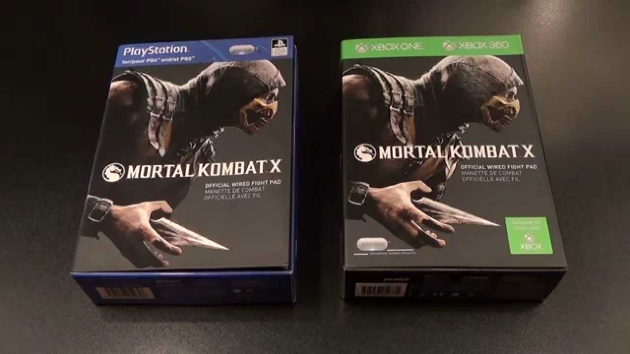 Mortal Kombat X Official Fight Pad For Ps4 Xbox One Ps3 Xbox 360
