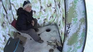 23 февраля на рыбалке !!! Южный Урал озеро Суртанды .