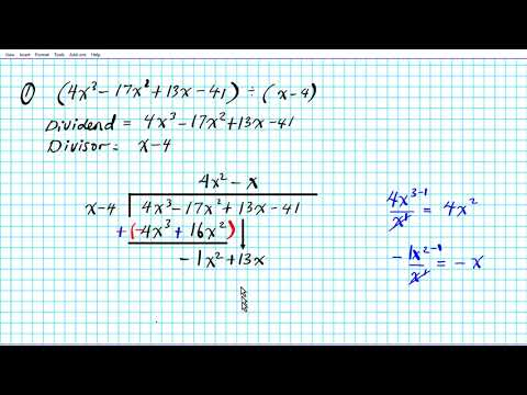 How To Divide Polynomials By Long Division Algebra 2 Common Core 3-3 Linear