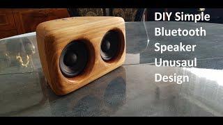 DIY Simple Bluetooth Speaker 2x3w amplifier + 2x15w speakers (BASS BOOST)
