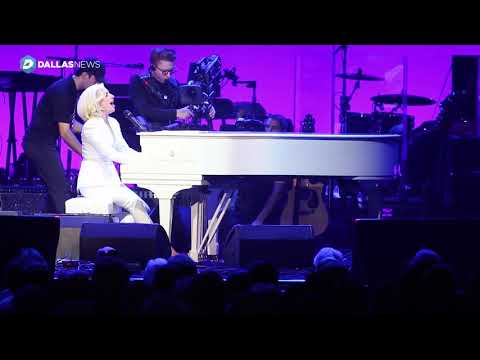 Lady Gaga performs The Edge of Glory at Harvey relief concert at Texas A&M