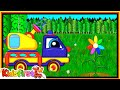 The Truck Transformer plants a flower. Cartoons for kids.