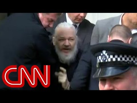 Video shows Julian Assange dragged out of embassy