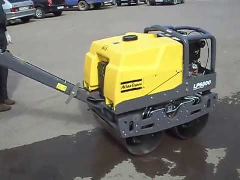 Atlas Copco LP6500 Double Drum Roller (Ручной виброкаток Atlas Copco LP6500)